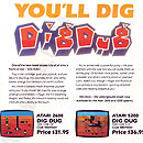 Atari Dig Dug for the 2600 and 5200