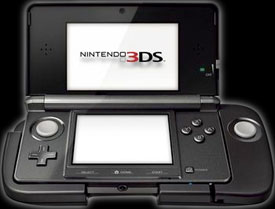 Nintendo 3DS with strap-on buttoncontroller