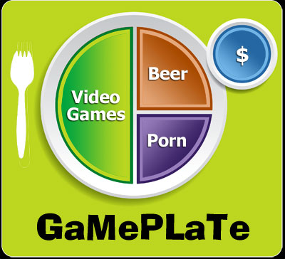 Video Gaming Surpasses Eating as Food Pyramid Topples in Favor of Game Plate