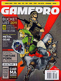 October 2011 GamePro cover last monthly issue