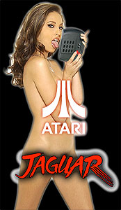 Porn star with an Atari Jaguar
