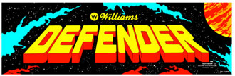 Williams Defender arcade marquee