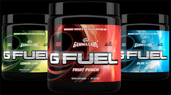 Gamma Labs G Fuel energy drink targeting gamers