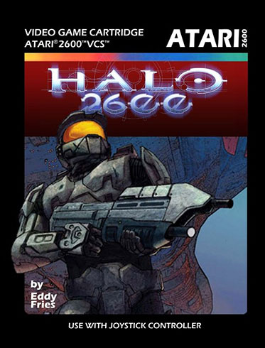 Halo for Atari 2600 - box cvoer art