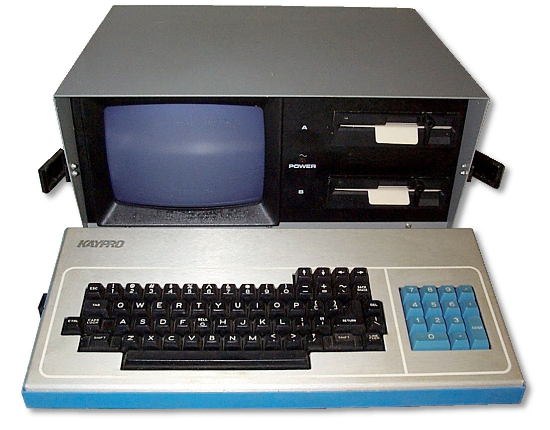front view of the Kaypro computer