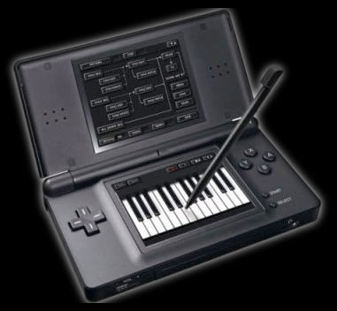 Korg DS + for Nintendo DS keyboard screen