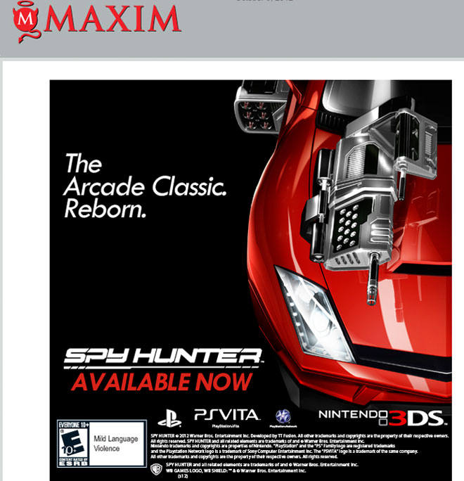 Spy Hunter on Vita and 3DS
