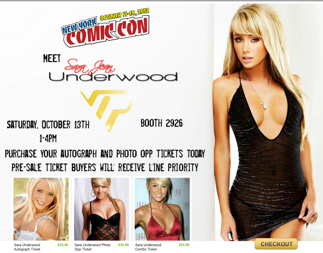 Playmate of the Year & AOTS host Sara Jean Underwood NY Comic Con