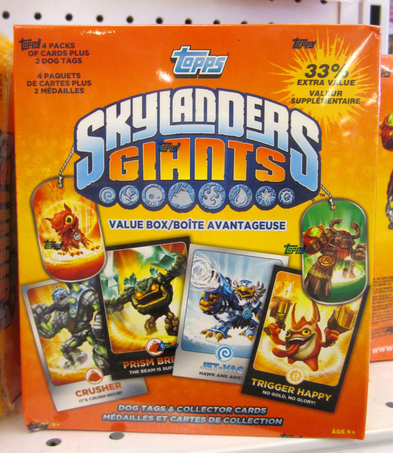 Skylanders Giants trading cards and dog tags