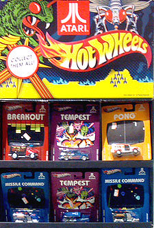 In-store display for Atari Hot Wheels cars