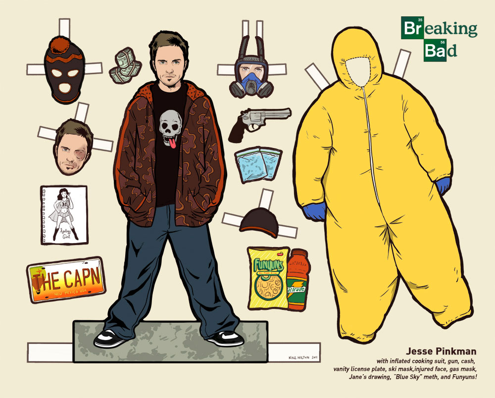 Breaking Bad character, Jesse Pinkman paper doll