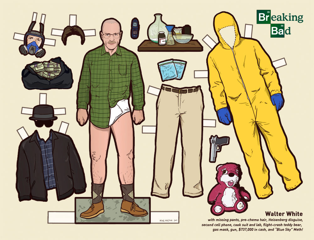 Breaking Bad character, Walter White paper doll