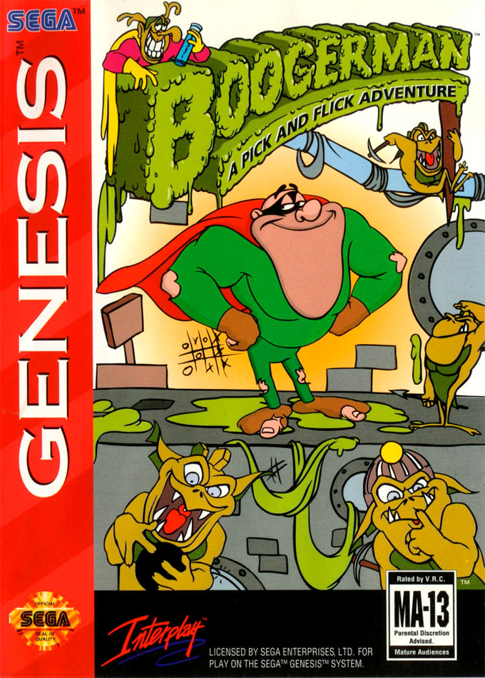 Boogerman- A Pick and Flick Adventure for Sega Genesis