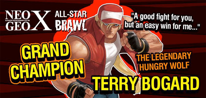 Terry Bogard is the NeoGeo X All-Star Brawl winner