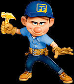 Fix-It Felix character from Wreck It Ralph