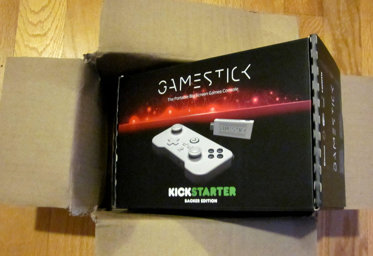 The GameStick HDMI video game console on a stick