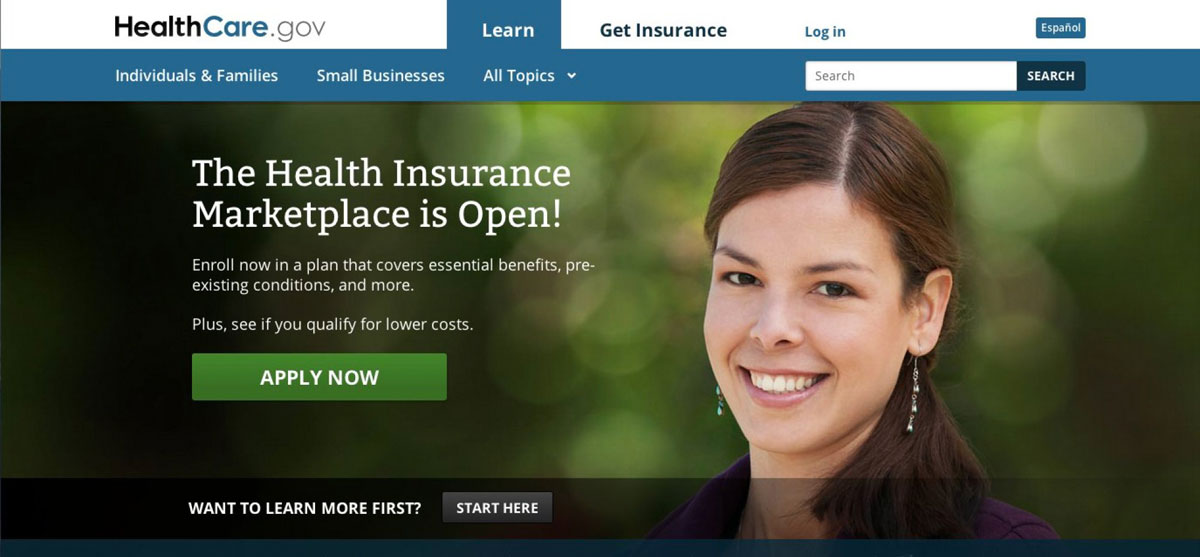The original woman pictured on the new US Healthcare website