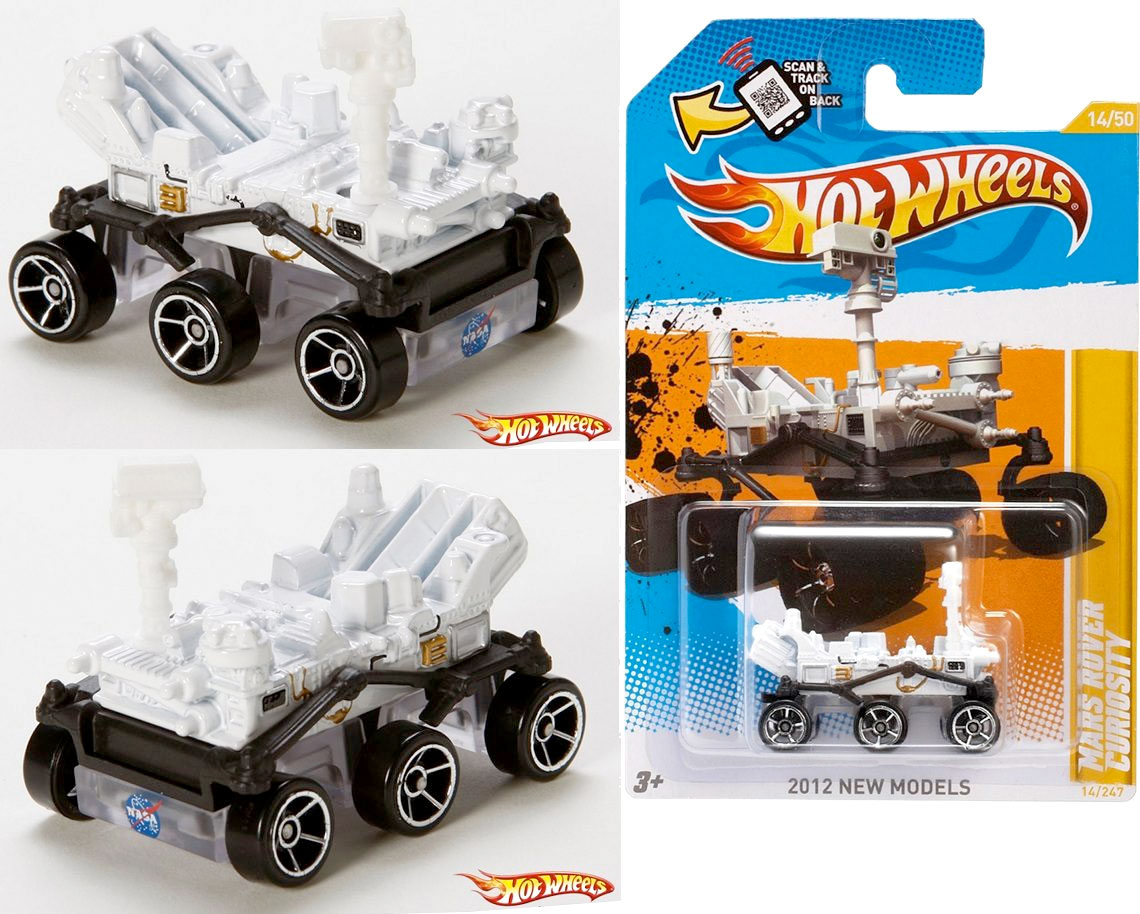 Hot Wheels model of the Mars Rover, Curiosity