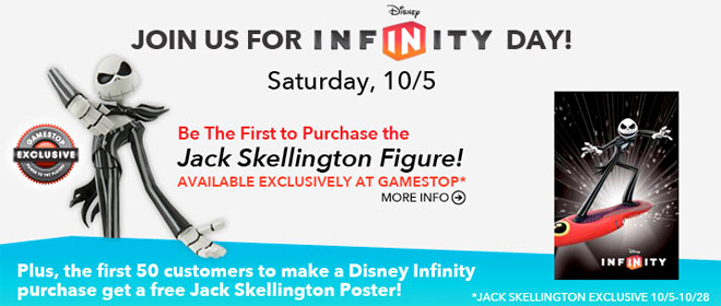 GameStop's Disney Infinity Day with Jack Skellington from NBX