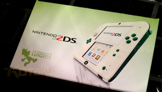 Nintendo 2DS with a Luigi theme