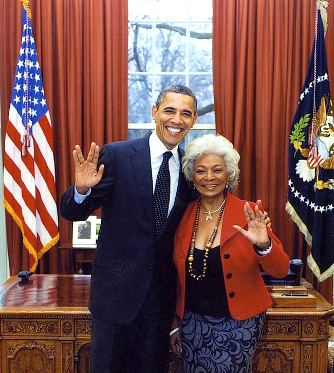 President Obama with Nichelle Nichols - Star Trek's Uhura