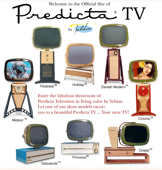 Main image on Telstar's Predicta TV website showing the models