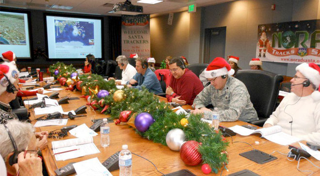 The NORAD Tracks Santa Operations Center! - in Peterson Air Force Base, CO