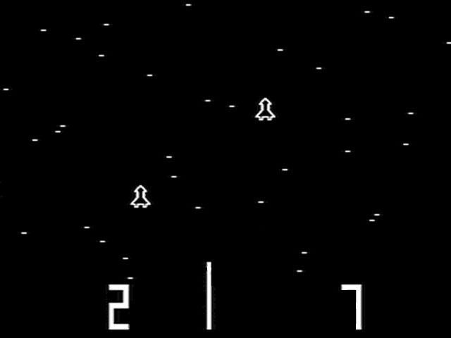 Atari's Space Race arcade screenshot