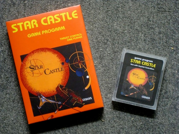 Star Castle for  Atari 2600 packaging and cartridge