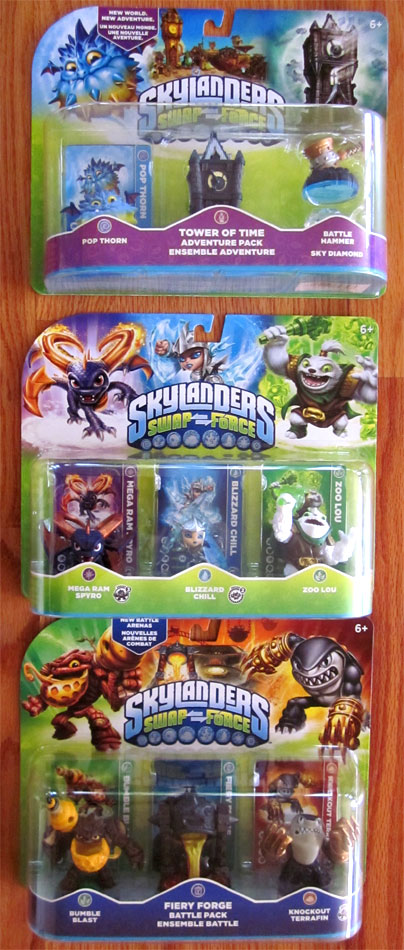 Skylanders Swap Force release day  3-packs at Toys R Us