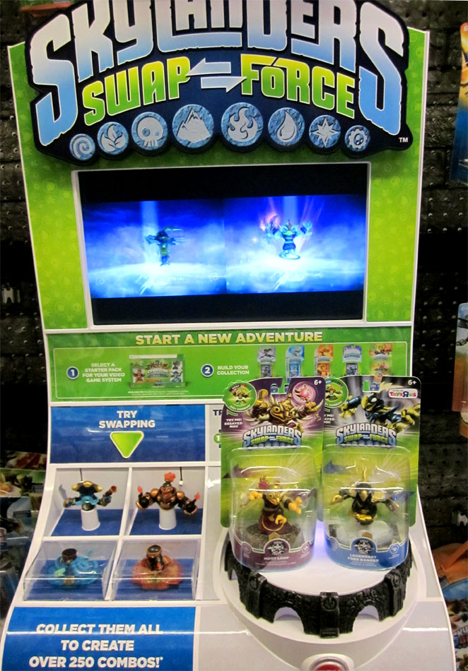 Skylanders Swap Force release day demo portal at Toys R Us
