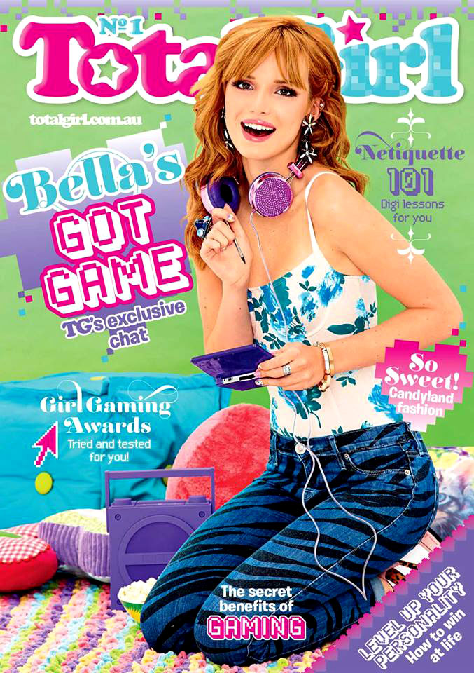 Bella Thorne with a Nintendo 3DS on the cover of Total Girl magazine