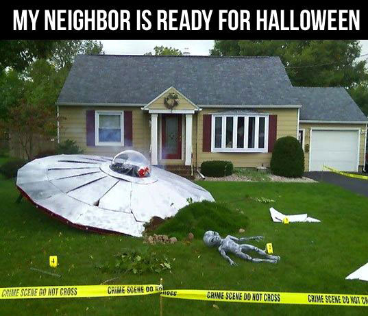 Happy Halloween - UFO crash
