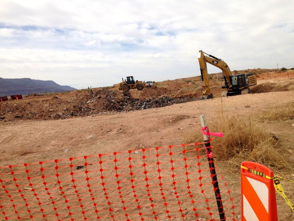 The Atari dig site from behind the visitor fence