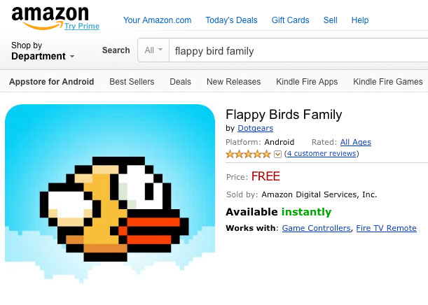 Flappy Birds Family for Amazon Fire