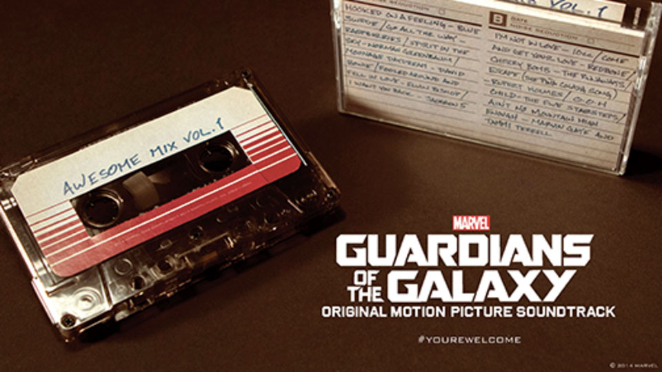 Guardians of the Galaxy soundtrack on cassette