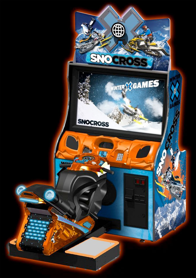 Snocross arcade game from Raw Thrills