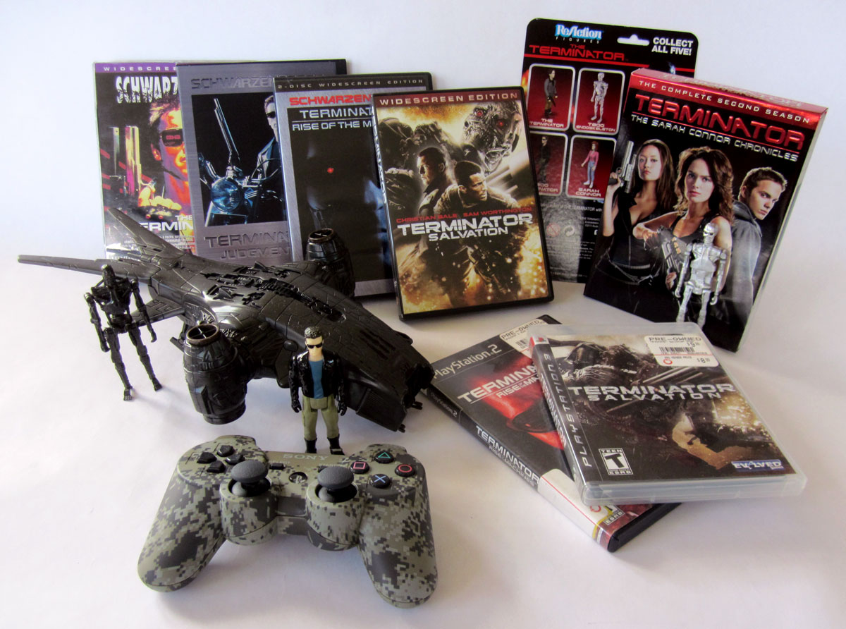 Terminator movies, games and toys