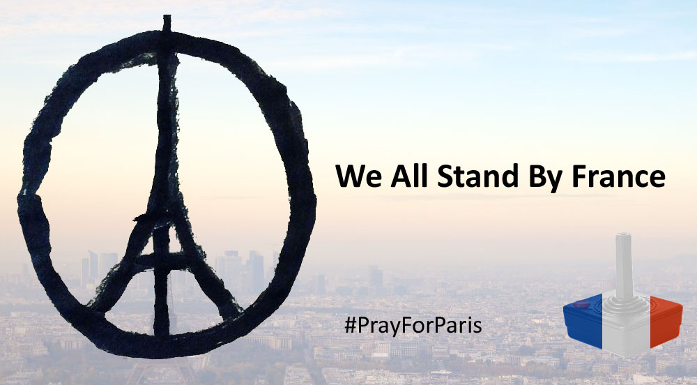 We all stand by France #PrayForParis