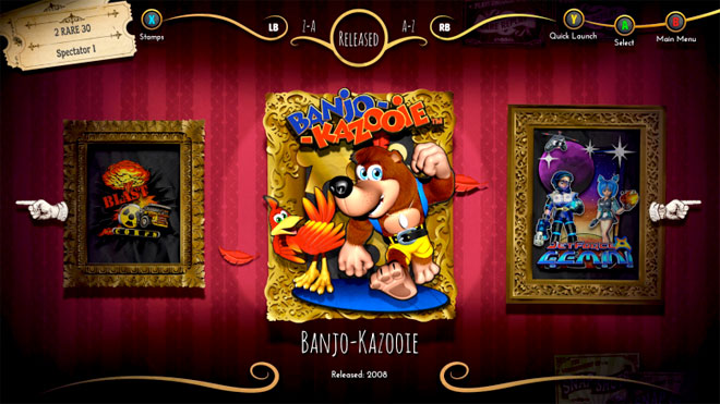 Rare Replay seclection screen