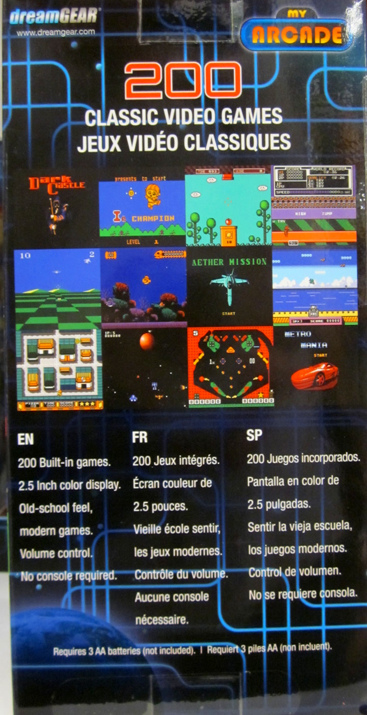 Dream gear 39 s retro machine boasts 220 games no one has for Gamer v portable games