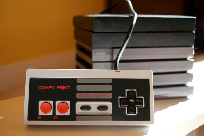 The Goofy Foot - reversed NES controller