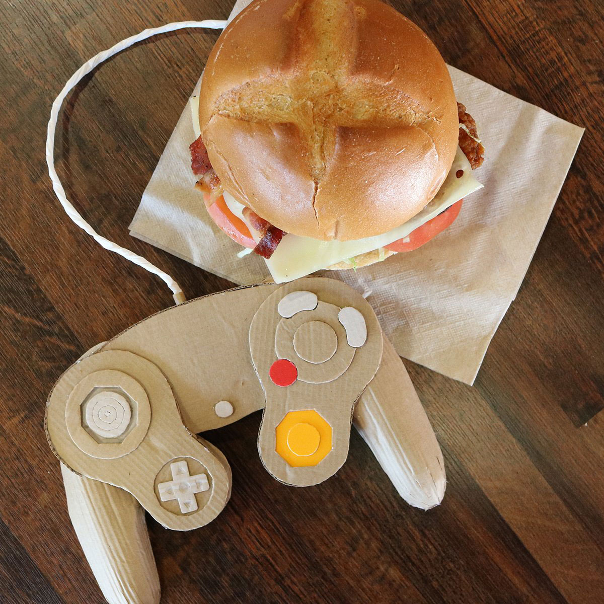 Arby's ad with a Nintendo Gamecube controller