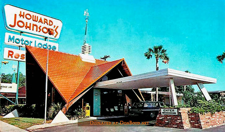 The Iconic Orange Peaks Of Howard Johnson Restaurants Are
