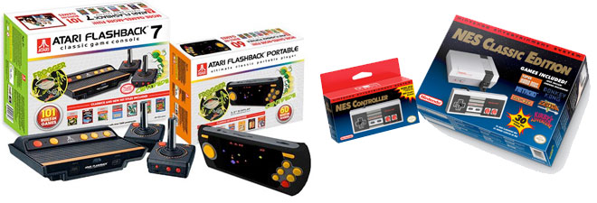 Atari Flashback and NES Classic Edition