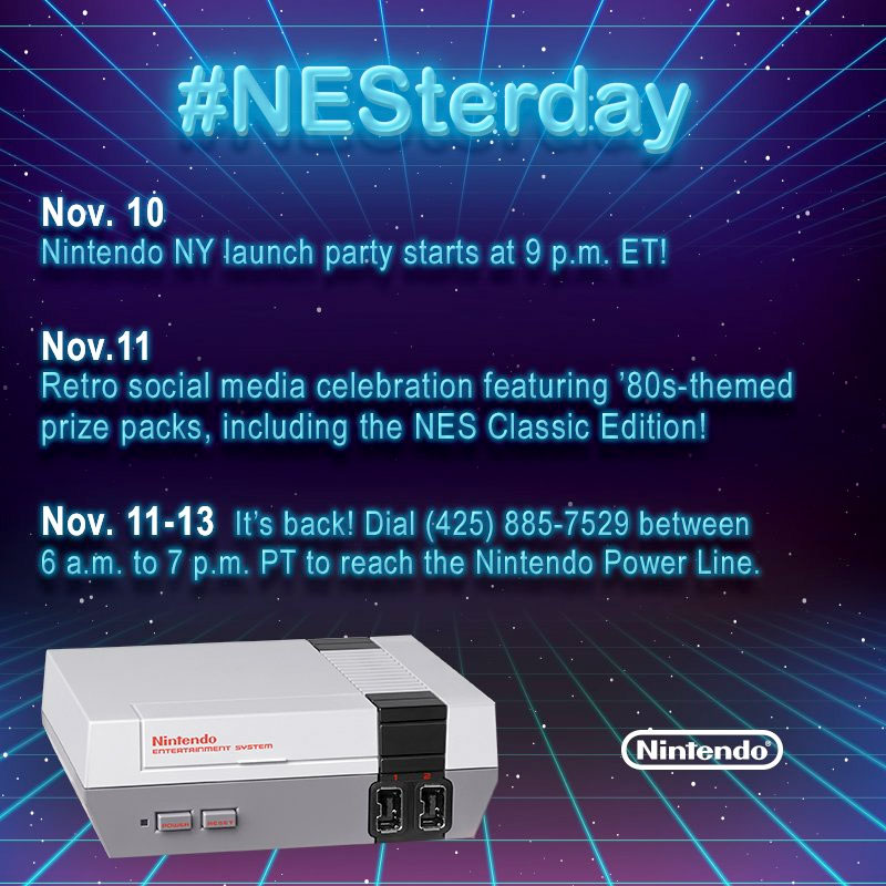 Nintendo's retro weekend begins with NESterday