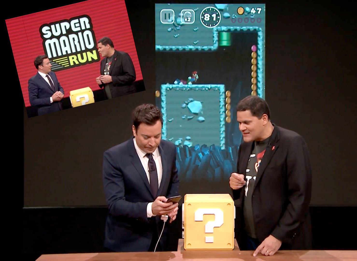 Jimmy Fallon playing Super Mario Run