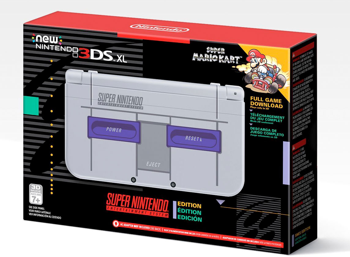 SNES-themed 3DS XL box