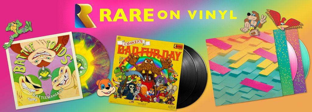 Three games from Rare now on vinyl