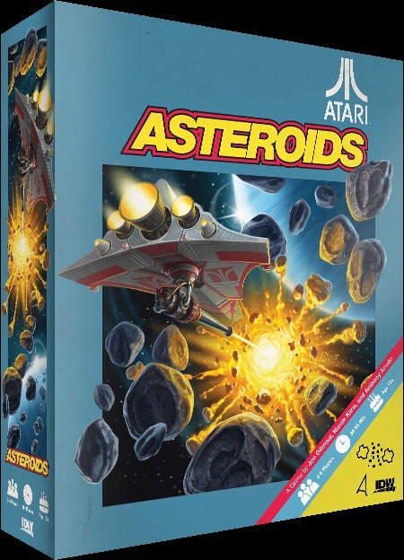 IDW Games' mock up of an Asteroids board game